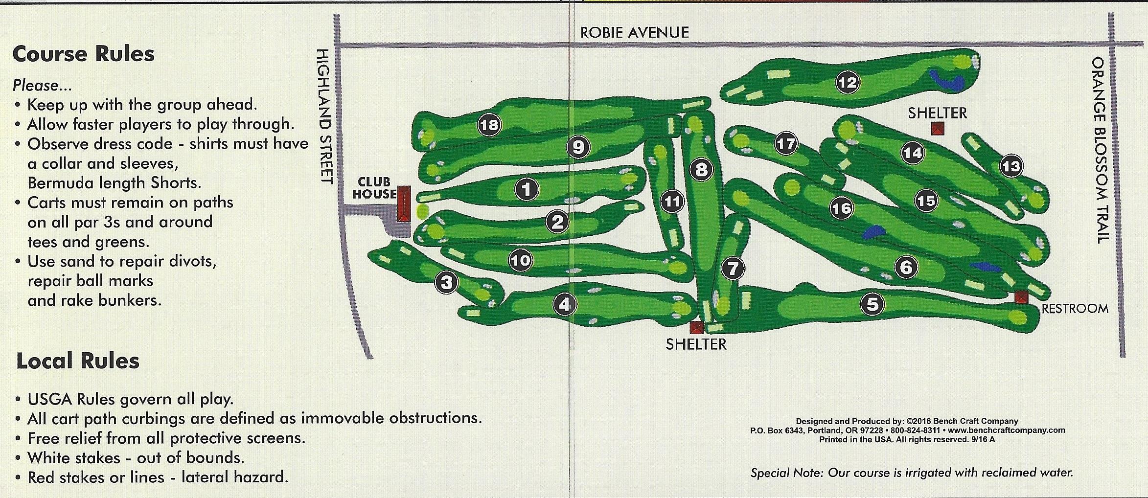 Scorecard With Map